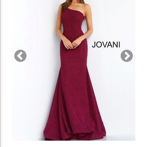 Jovani Wine prom dress